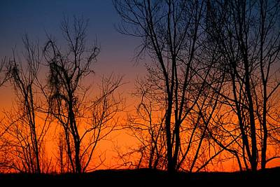 Photograph - Bright Sunset by Kathryn Meyer