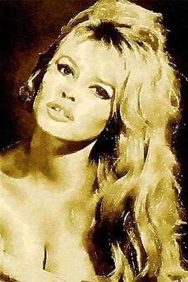 Bardot Painting - Brigitte Bardot Hollywood Icon By John Springfield by John Springfield