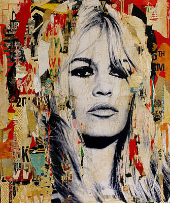 Brigitte Bardot Painting - Brigitte Bardot by Michiel Folkers