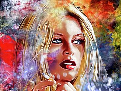Brigitte Bardot Painting - Brigitte Bardot Painted by Daniel Janda