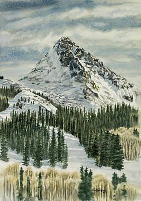 Colorado Ski Painting - Brindi's  Playground by Link Jackson