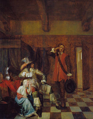 Interior Scene Painting - Bringer Of Bad News by Pieter de Hooch
