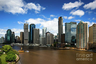Photograph - Brisbane City Skyline by Andrew Michael