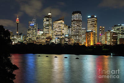 Photograph - Brisbane Skyline After Dark by Andrew Michael