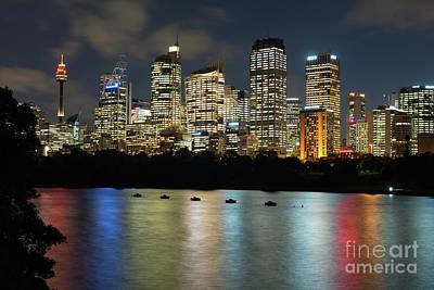 Photograph - Brisbane Skyline After Dark by Andrew Michael