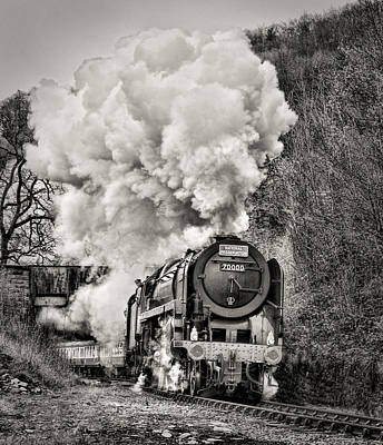 Photograph - Britannia 70000 Pulling Out Of Berwyn by Andrew Munro