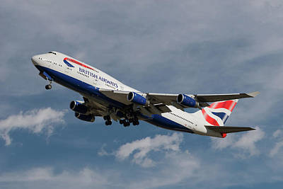 Airliners Photograph - British Airways Boeing 747-436 by Nichola Denny