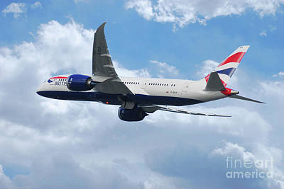 Boeing 787 Dreamliner Digital Art - British Airways Boeing 787 Dreamliner by J Biggadike