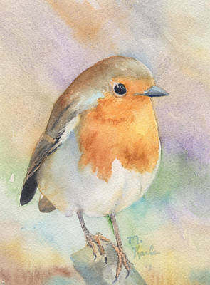 Painting - British Robin by Marsha Karle