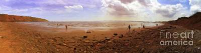 Painting Royalty Free Images - British Seashore, Filey Royalty-Free Image by Esoterica Art Agency