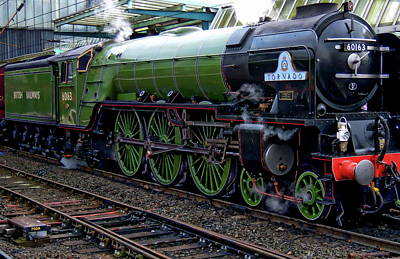 Photograph - British Steam Locomotive by Anthony Dezenzio