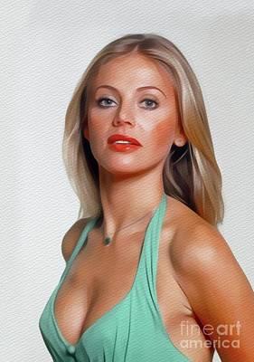 Painting - Britt Ekland, Movie Star by John Springfield