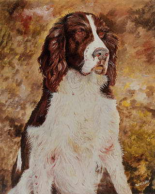 Painting - Brittany Spaniel by Paul Cubeta
