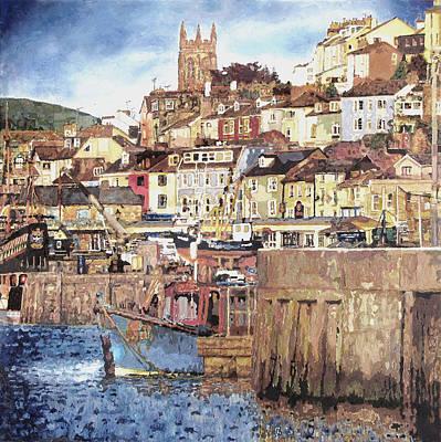 Brixham Harbour Painting - Brixham Harbour by Dawn Scrivener