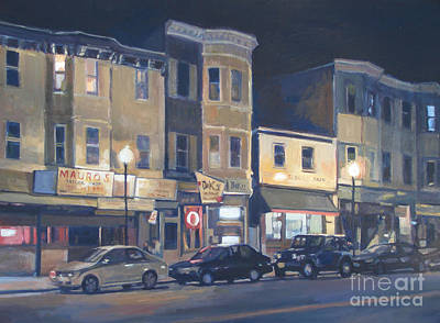 Southie Painting - Broadway Nocturne by Deb Putnam