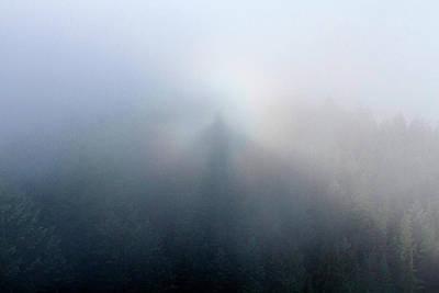 Photograph - Brocken Spectre Self-portrait From Carpenter Mtn Fire Lookout, Oregon by Robert Mutch