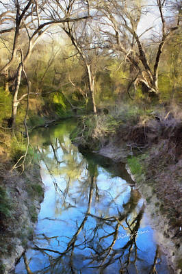 Painting - Broken Branch Creek by Ricky Dean