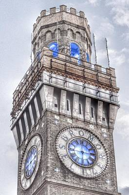 Photograph - Bromo Seltzer Tower Baltimore Clock  by Marianna Mills