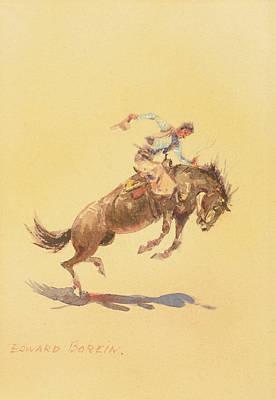 Bronc Painting - Bronc Rider by Edward Borein