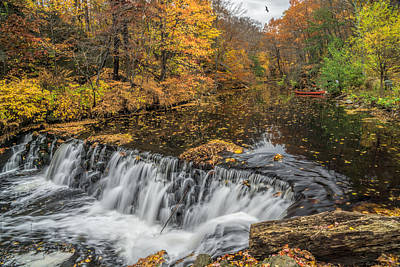 Canoe Waterfall Photograph - Bronx River Waterfall by June Marie Sobrito