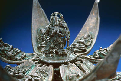 Diety Photograph - Bronze Lotus, 16th Century by Granger