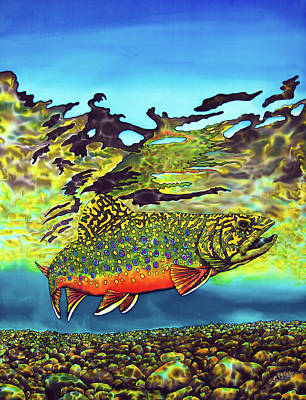 Painting - Brook Trout by Daniel Jean-Baptiste