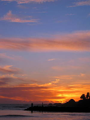 Photograph - Brookings Oregon Sunset 07 by Larry Bacon