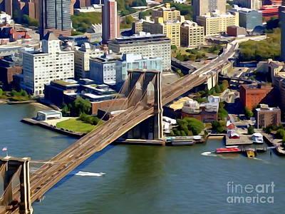 Photograph - Brooklyn Bridge by Ed Weidman