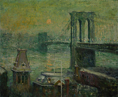 Brooklyn Bridge Painting - Brooklyn Bridge by Ernest Lawson