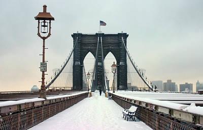 Brooklyn Bridge Print by June Marie Sobrito