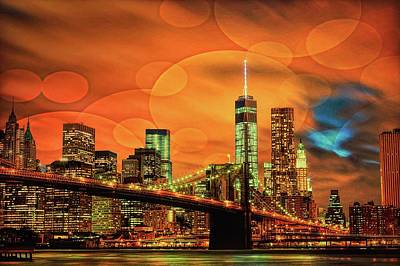 Digital Art - Brooklyn Bridge by Louis Ferreira