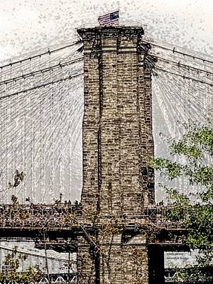 Photograph - Brooklyn Bridge by Mark Alesse