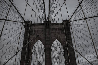 Shadows And Light Photograph - Brooklyn Bridge by Martin Newman