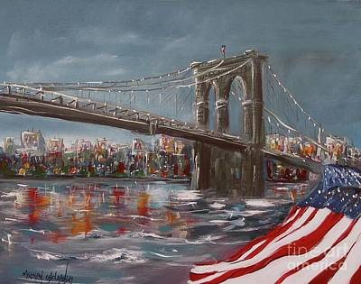 Painting - Brooklyn Bridge by Miroslaw  Chelchowski