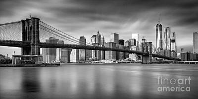 Brooklyn Bridge Panorama Art Print by John Farnan