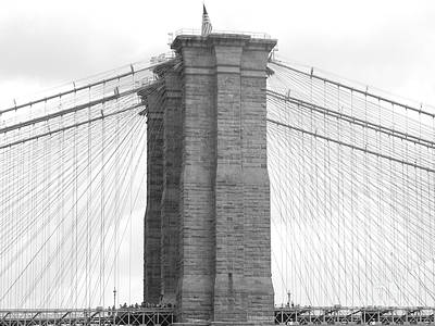 Photograph - Brooklyn Bridge by Raymond Earley