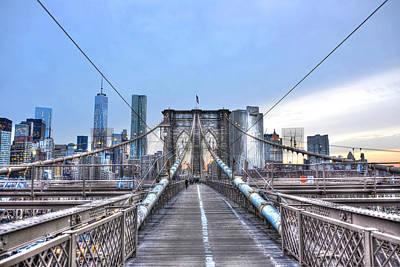 Brooklyn Bridge Walkway Original by Randy Aveille