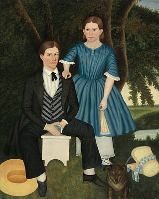 Painting - Brother And Sister by American 19th Century