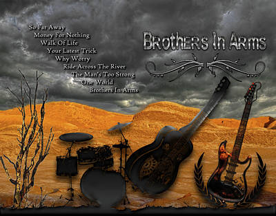 Digital Art - Brothers In Arms by Michael Damiani