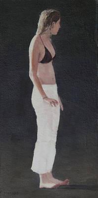 Painting - Brown Bikini Top by Masami Iida