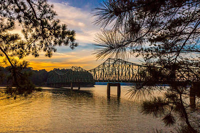 Photograph - Browns Bridge Sunset by Michael Sussman