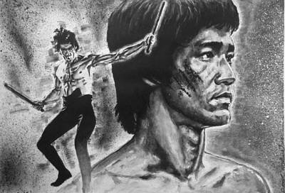 Painting - Bruce Lee by Darryl Matthews