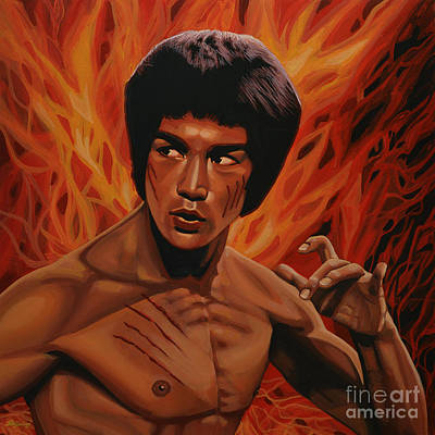 Chinese Dragon Painting - Bruce Lee Enter The Dragon by Paul Meijering