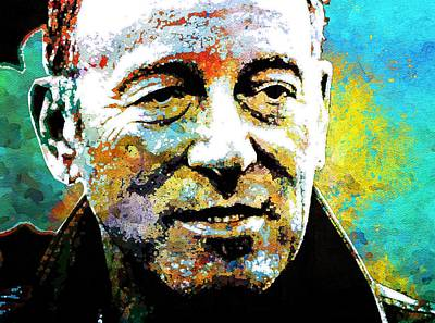 Bruce Springsteen Mixed Media - Bruce Springsteen by Otis Porritt