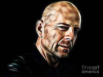 Bruce Willis Collection Art Print by Marvin Blaine