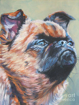 Griffon Painting - Brussels Griffon by Lee Ann Shepard
