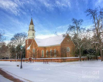 Bruton Parish In Winter II Art Print