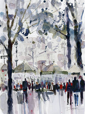 Bryant Park, New York City Art Print by Dorrie Rifkin