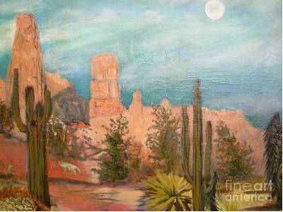 Dog In Landscape Drawing - Bryce Canyon by Hal Newhouser
