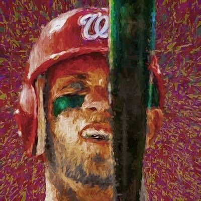 Baseball Wall Art - Photograph - #bryceharper #washington #washingtondc by David Haskett II